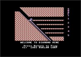 Title screen of Diamond Mine on the Commodore 64.