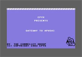 Title screen of Gateway to Apshai on the Commodore 64.