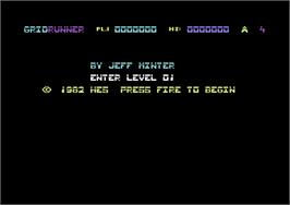 Title screen of Gridrunner on the Commodore 64.
