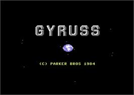 Title screen of Gyruss on the Commodore 64.