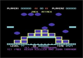 Title screen of Jack Attack on the Commodore 64.
