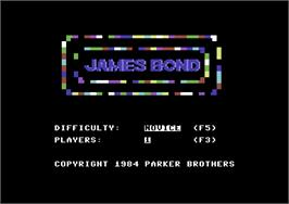 Title screen of James Bond 007 on the Commodore 64.