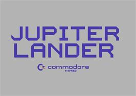 Title screen of Jupiter Lander on the Commodore 64.