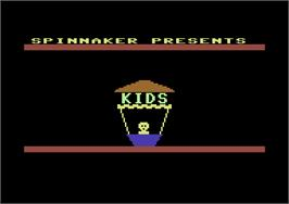 Title screen of Kids on Keys on the Commodore 64.