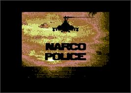 Title screen of Narco Police on the Commodore 64.