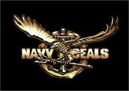 Title screen of Navy Seals on the Commodore 64.