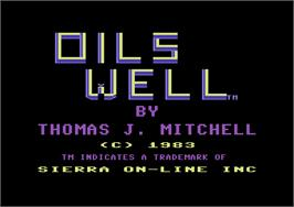 Title screen of Oil's Well on the Commodore 64.