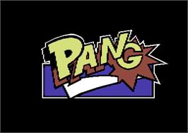 Title screen of Pang on the Commodore 64.