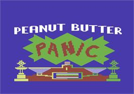 Title screen of Peanut Butter Panic on the Commodore 64.