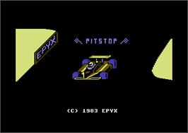 Title screen of Pitstop on the Commodore 64.