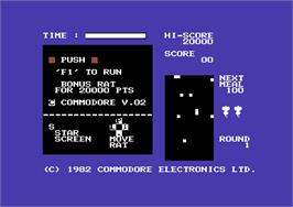 Title screen of Radar Rat Race on the Commodore 64.