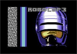 Title screen of RoboCop 3 on the Commodore 64.