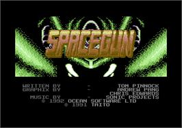 Title screen of Space Gun on the Commodore 64.