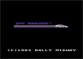 Title screen of Spy Hunter on the Commodore 64.