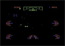 Title screen of Star Wars: The Arcade Game on the Commodore 64.