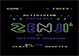 Title screen of Zenji on the Commodore 64.