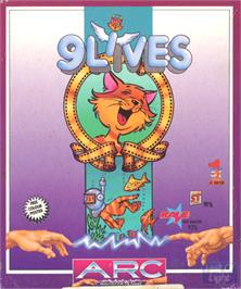 Box cover for 9 Lives on the Commodore Amiga.