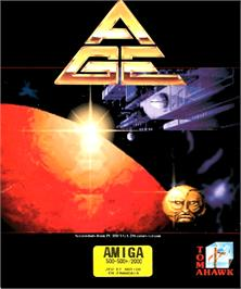Box cover for A.G.E. on the Commodore Amiga.
