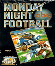 Box cover for ABC Monday Night Football on the Commodore Amiga.