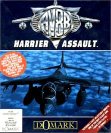 Box cover for AV8B Harrier Assault on the Commodore Amiga.