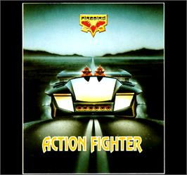 Box cover for Action Fighter on the Commodore Amiga.