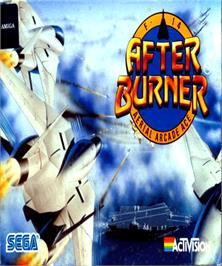 Box cover for After Burner on the Commodore Amiga.