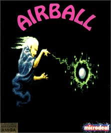 Box cover for Airball on the Commodore Amiga.