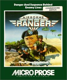 Box cover for Airborne Ranger on the Commodore Amiga.