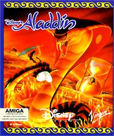 Box cover for Aladdin on the Commodore Amiga.