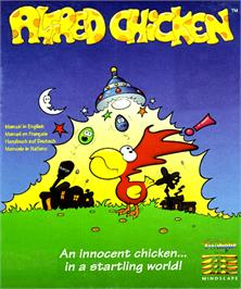 Box cover for Alfred Chicken on the Commodore Amiga.