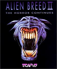 Box cover for Alien Breed II: The Horror Continues on the Commodore Amiga.