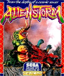 Box cover for Alien Storm on the Commodore Amiga.