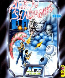 Box cover for Alien Syndrome on the Commodore Amiga.