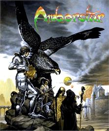 Box cover for Amberstar on the Commodore Amiga.