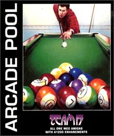 Box cover for Arcade Pool on the Commodore Amiga.