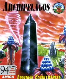 Box cover for Archipelagos on the Commodore Amiga.