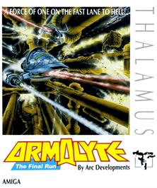 Box cover for Armalyte on the Commodore Amiga.