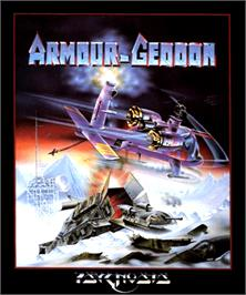 Box cover for Armour-Geddon on the Commodore Amiga.