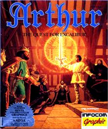 Box cover for Arthur: The Quest for Excalibur on the Commodore Amiga.