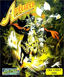 Box cover for Artura on the Commodore Amiga.