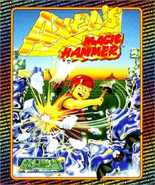 Box cover for Axel's Magic Hammer on the Commodore Amiga.