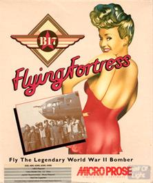Box cover for B-17 Flying Fortress on the Commodore Amiga.