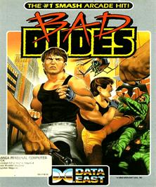 Box cover for Bad Dudes on the Commodore Amiga.