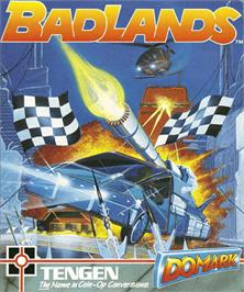 Box cover for Bad Lands on the Commodore Amiga.