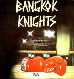 Box cover for Bangkok Knights on the Commodore Amiga.
