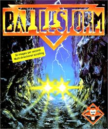 Box cover for Battlestorm on the Commodore Amiga.