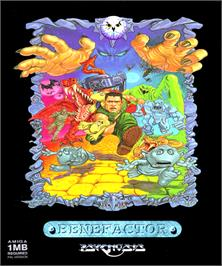 Box cover for Benefactor on the Commodore Amiga.