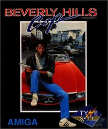 Box cover for Beverly Hills Cop on the Commodore Amiga.