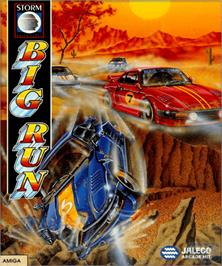 Box cover for Big Run on the Commodore Amiga.