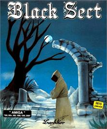 Box cover for Black Sect on the Commodore Amiga.